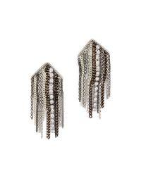 Adia Kibur | Metallic Shannon Earrings - Silver Multi | Lyst