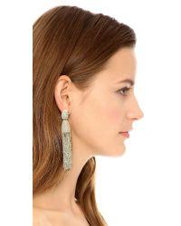 Oscar de la Renta Metallic Classic Chain Tassel Earrings