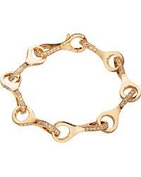Georg Jensen - Metallic Dune 18ct Rose-gold And Cinnamon Diamond Bracelet - Lyst