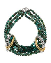 Alexis Bittar | Blue Feathered Tressage Chrysocolla Necklace | Lyst