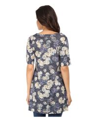 Nally & Millie Gray Floral High-low Tunic