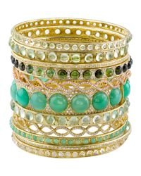 Irene Neuwirth - Metallic Gemstone Bangle - Lyst