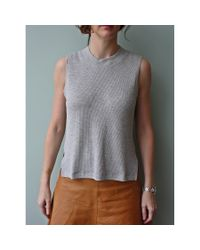 LNA | Gray Sonja Top | Lyst