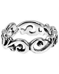 Aeravida | Metallic Filigree Swirl All-around Band Sterling Silver Ring | Lyst