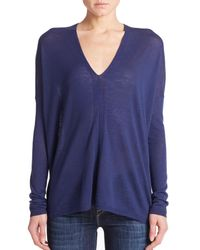 VINCE | Blue V-neck Sweater | Lyst