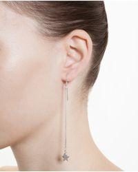 Saint Laurent Metallic Sterling Silver Star And Heart Earrings