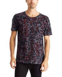 HUGO - Red 'damouflage' | Cotton Signature Print T-shirt for Men - Lyst