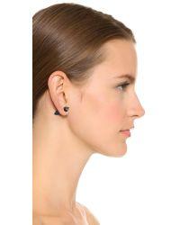 Vita Fede   Black Double Titan Stone Earrrings - Onyx/jasper/rose Gold   Lyst