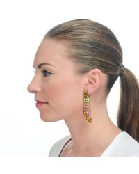 Lulu Frost - Metallic New Handpainted Duchess Earring Topaz - Lyst