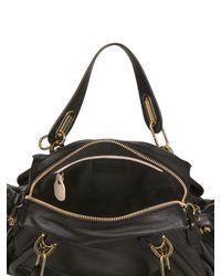 Chloé | Black Medium Paraty Grained Leather Top Handle | Lyst