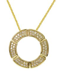 Effy | Metallic D Oro 14k Yellow Gold Diamond Open Circle Pendant Necklace | Lyst