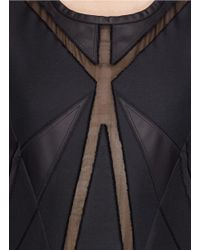 IRO Black Ambre Geometric Sheer Insert Dress