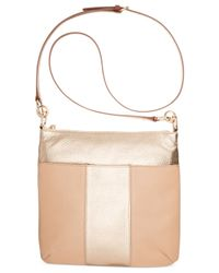 Tommy Hilfiger Natural Th Signature Leather Colorblock Crossbody