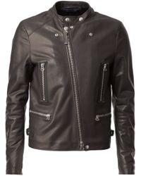 Lanvin - Black Biker Jacket for Men - Lyst