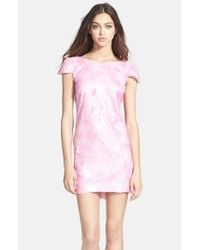 Dress the Population | Pink 'Brooke' Sequin Minidress | Lyst