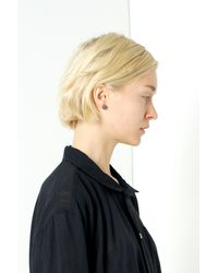 Nektar De Stagni - Black 'bad' Pearl Earrings - Lyst