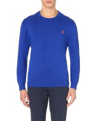 Pink Pony - Blue Logo-embroidered Cotton-jersey Top for Men - Lyst