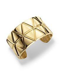 Marina B - Metallic 18k Yellow Gold Triangoli Cuff Bracelet - Lyst