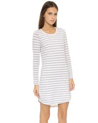 Sundry - Natural Long Sleeve Pocket Dress - Lyst