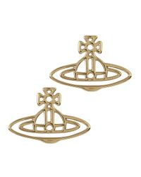 Vivienne Westwood | Metallic Thin Lines Palladium Plated Earrings | Lyst