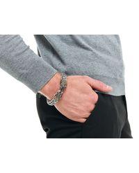 John Hardy | Black Legends Eagle Head On Large Flat Chain Bracelet for Men | Lyst