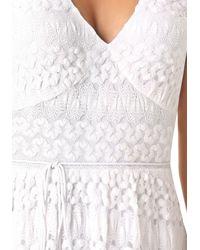 Bebe White Tanya Knit Maxi Dress