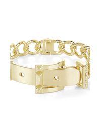 BCBGMAXAZRIA - Metallic Pyramid-buckle Chain Bracelet - Lyst