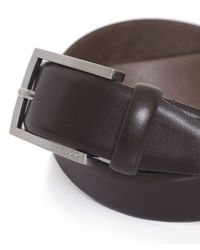 BOSS Black Brown Leather C-barney Belt for men