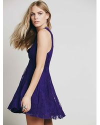 Free People - Purple Reign Over Me Sleeveless Dress - Lyst