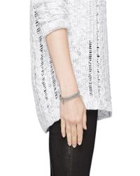 Philippe Audibert | Gray Palms Engraved Bead Elasticated Bracelet | Lyst