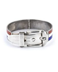 Gucci | Multicolor Pre-owned Sterling Silver Red White and Blue Enamel Bracelet for Men | Lyst
