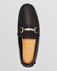 Bally Black Perforated Driving Loafers With Bit for men