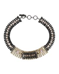 Iosselliani | Black Cry Crystal Necklace | Lyst