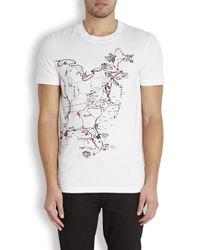 McQ White Road Trip Map Cotton Jersey T-Shirt for men