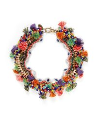 Venna | Multicolor Diana Jewel Pompom Bead Necklace | Lyst