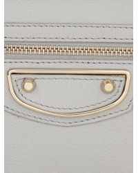 Balenciaga - Gray Giant Money Edge-Line Leather Wallet - Lyst