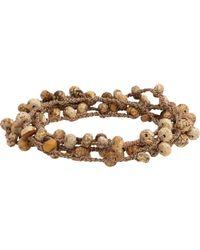 Feathered Soul Natural Jasper Bead & Braided Silk Wrap Bracelet for men