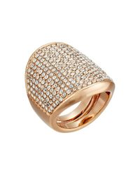 Vince Camuto | Metallic Adjustable Pave Shield Ring | Lyst