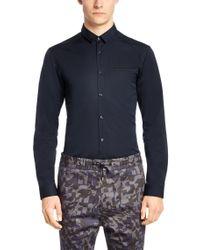 HUGO Blue Slim-fit Shirt In Cotton: 'edell' for men