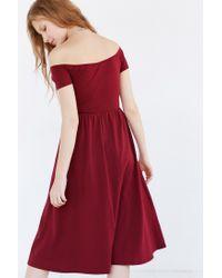Kimchi Blue | Purple Off-the-shoulder Midi Dress | Lyst