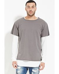 Forever 21 | Gray Eptm. French Terry Tee for Men | Lyst