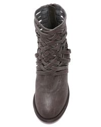 Free People | Gray Carrera Heel Boots - Black | Lyst