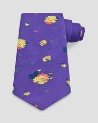 Thomas Pink Purple Mitcham Flower Classic Tie for men