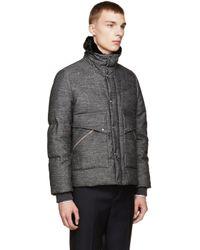 Moncler Gamme Bleu Gray Grey Hooded Down Jacket for men