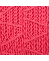 Paul Smith   Women'S Pink Knitted Cotton Sweater With Textured Panels   Lyst