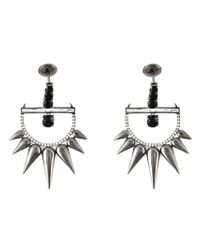 Elise Dray | Metallic Spinel Spiked Diamond Earrings | Lyst