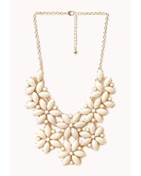 Forever 21 - Natural Bold Cluster Faux Stone Necklace - Lyst