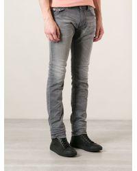 DIESEL - Gray Thavar Skinny Jeans for Men - Lyst