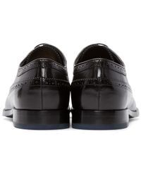 PS by Paul Smith Black Talbot Longwing Brogues for men