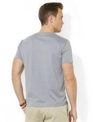 Polo Ralph Lauren Gray Short-Sleeved V-Neck T-Shirt for men